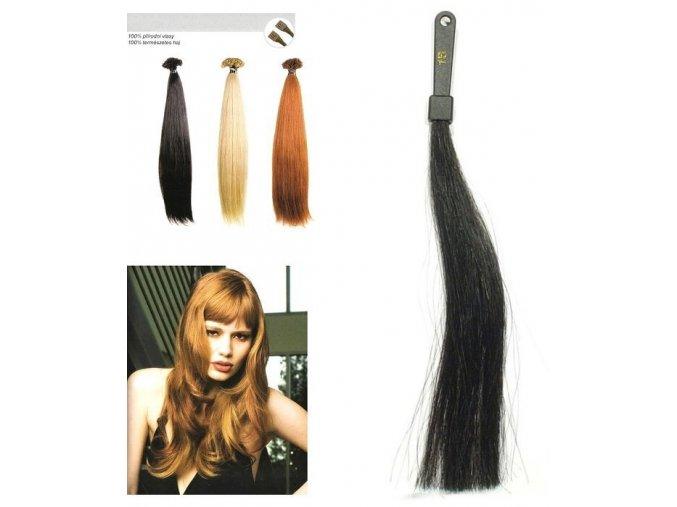 SO.CAP. Rovné vlasy Přírodní odstín 8010XXL 65-70cm - černá 1B