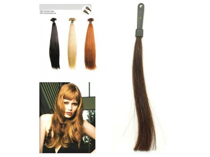 SO.CAP. Rovné vlasy Přírodní odstín 8010XXL 65-70cm- kaštanově hnědá 4