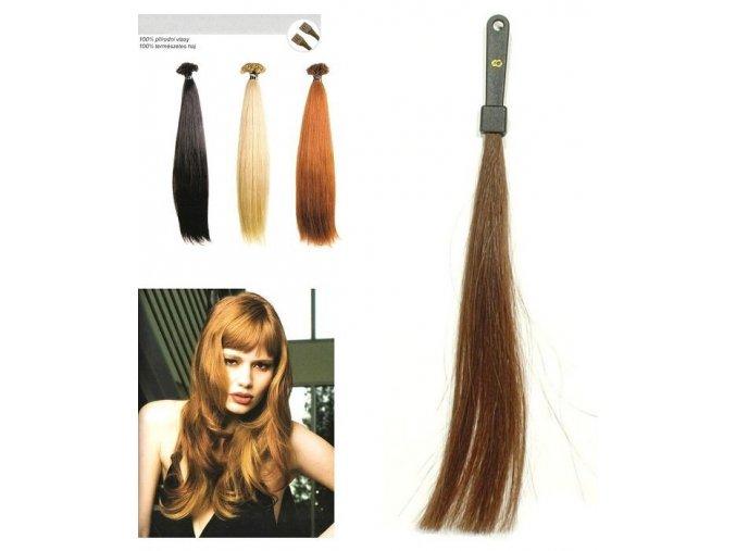 SO.CAP. Rovné vlasy Přírodní odstín 8010XXL 65-70cm - tmavě plavá 8