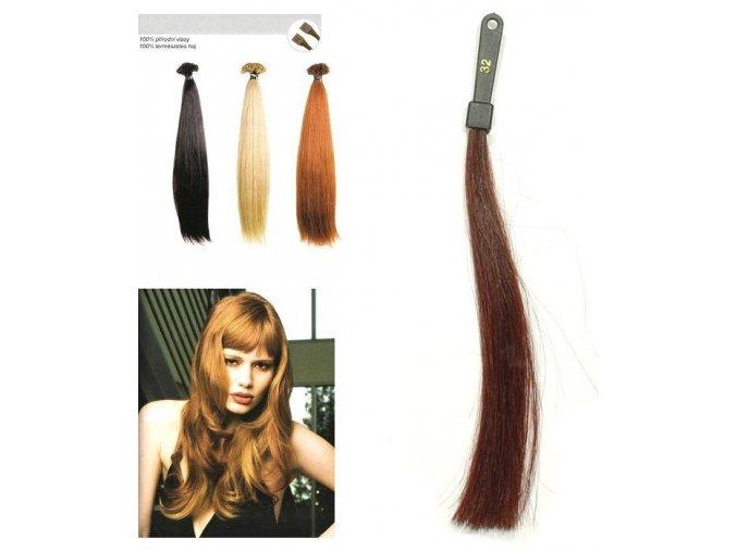 SO.CAP. Rovné vlasy Přírodní odstín 8010XXL 65-70cm - int červeno hnědá 32