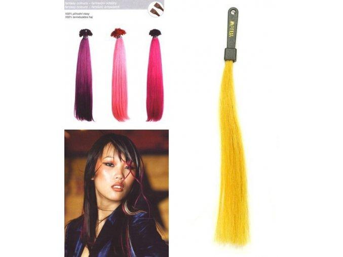 SO.CAP. Rovné vlasy 8009FC 35-40cm Fantazijní odstíny - Yellow
