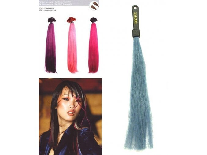 SO.CAP. Rovné vlasy 8009FC 35-40cm Fantazijní odstíny - Tourquoise