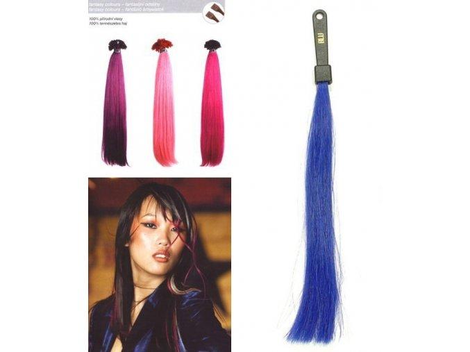 SO.CAP. Rovné vlasy 8009FC 35-40cm Fantazijní odstíny - Blue