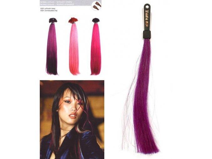 SO.CAP. Rovné vlasy 8009FC 35-40cm Fantazijní odstíny - New Violet