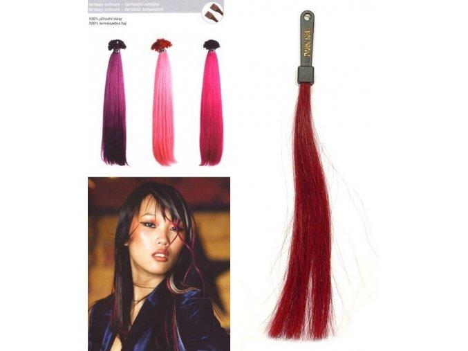 SO.CAP. Rovné vlasy 8006F 50-55cm Fantazijní odstíny - Dark Red