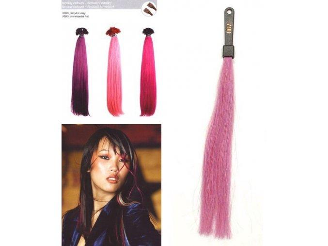 SO.CAP. Rovné vlasy 8006F 50-55cm Fantazijní odstíny - Lilac