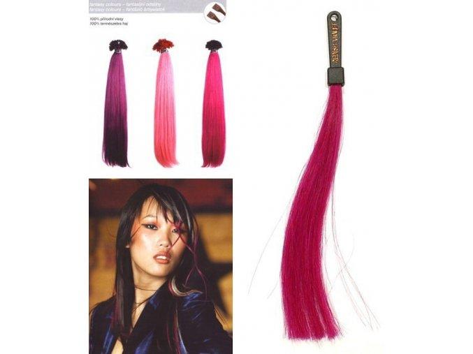SO.CAP. Rovné vlasy 8006F 50-55cm Fantazijní odstíny - Reddish Violet
