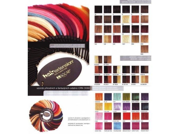 SO.CAP. Hair Extension Vlasový vzorník 81 odstínů pramenů k prodloužení vlasů