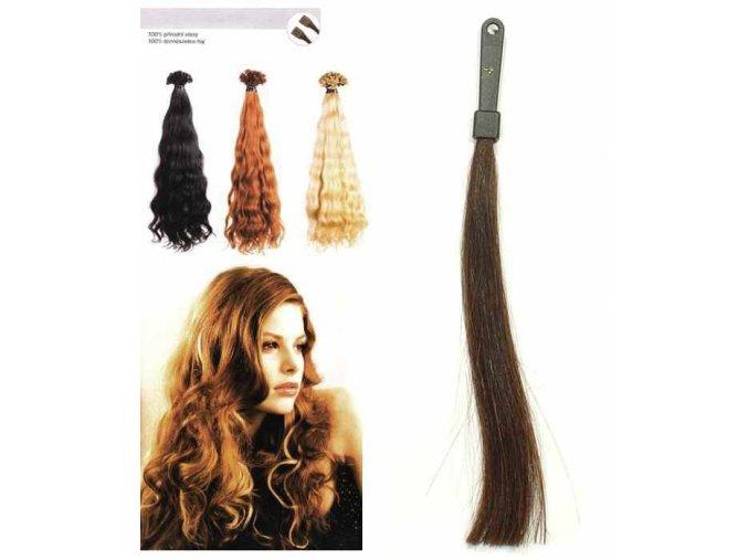 SO.CAP. Vlnité vlasy Přírodní odstín 8003MC 35-40cm - kaštanově hnědá 4
