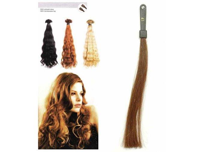 SO.CAP. Vlnité vlasy Přírodní odstín 8003MC 35-40cm - tmavá blond 17