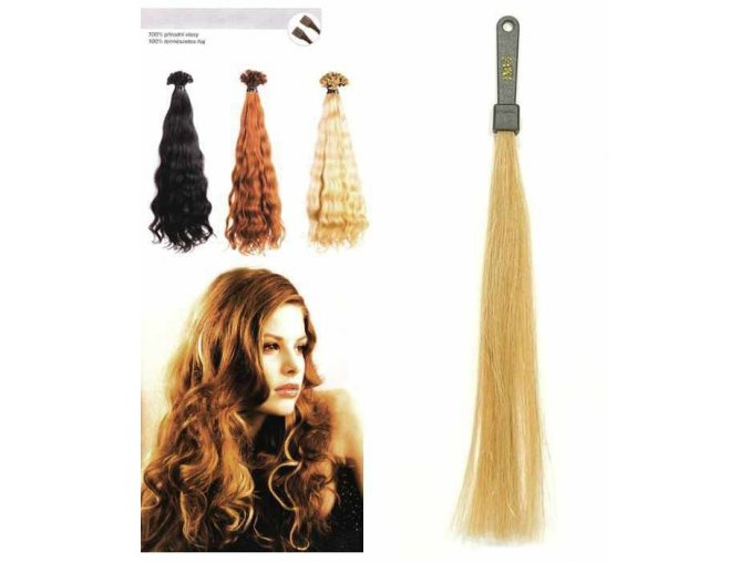 SO.CAP. Vlnité vlasy Přírodní odstín 8003MC 35-40cm - zlatá DB4