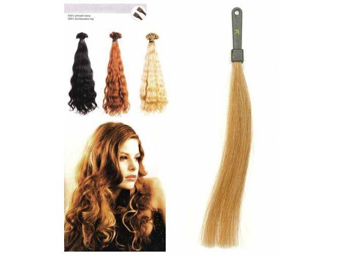 SO.CAP. Vlnité vlasy Přírodní odstín 8003MC 35-40cm - extra blond 26