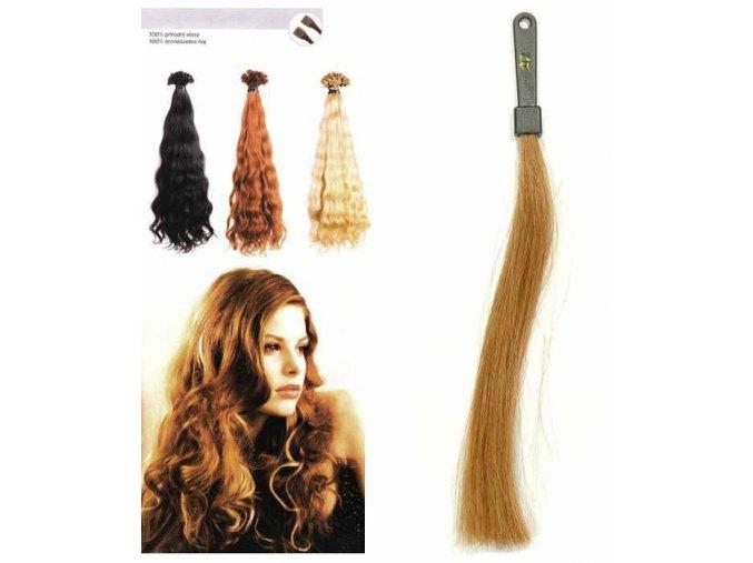 SO.CAP. Vlnité vlasy Přírodní odstín 8003MC 35-40cm - střední zlatá blond 27