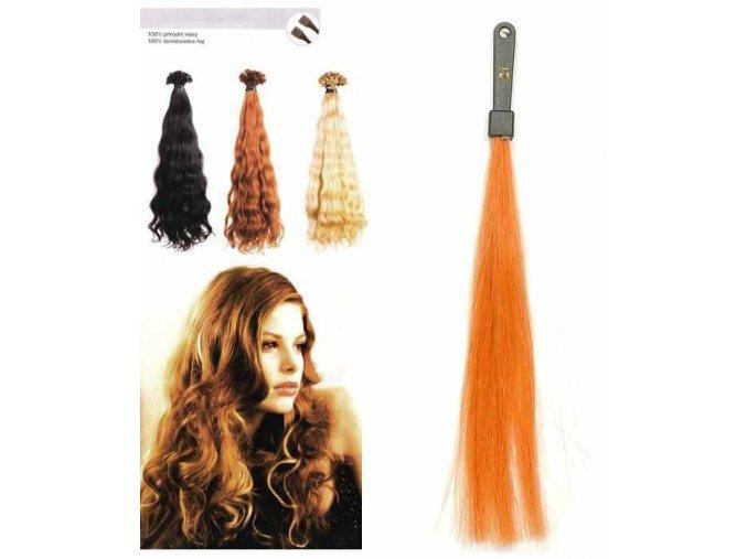 SO.CAP. Vlnité vlasy Přírodní odstín 8003MC 35-40cm - int. měděná blond 21