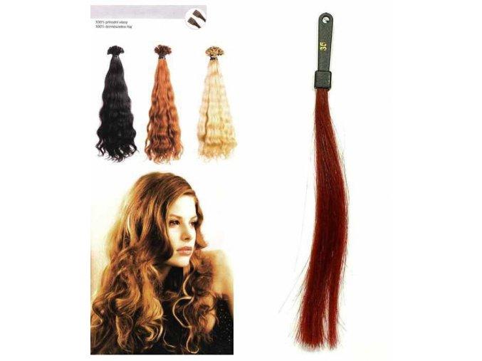 SO.CAP. Vlnité vlasy Přírodní odstín 8003MC 35-40cm - intenzivně červená 35