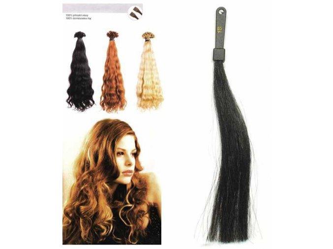 Prodlužování vlasů SO.CAP. Hair Extension - Přírodní odstín 8002M 50-55cm - černá 1B