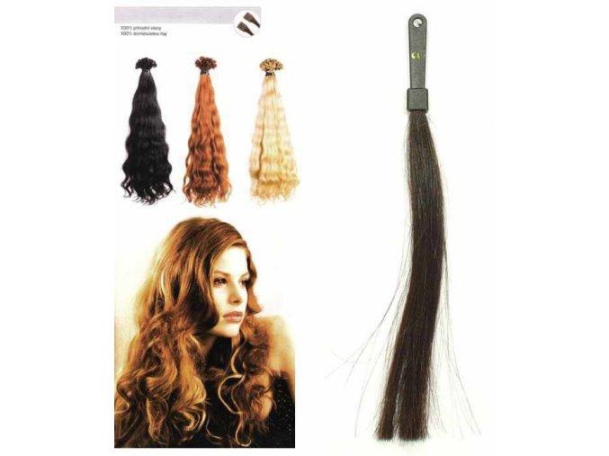 SO.CAP. Vlnité vlasy Přírodní odstín 8002M 50-55cm - tmavě hnědá 2