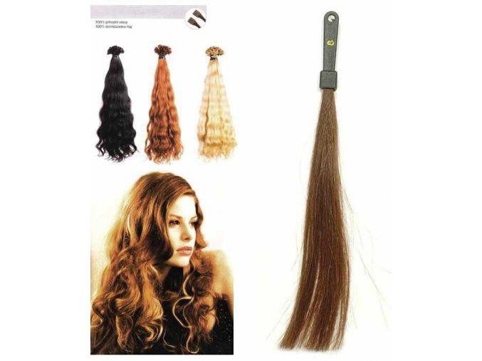 SO.CAP. Vlnité vlasy Přírodní odstín 8002M 50-55cm - tmavě plavá 8
