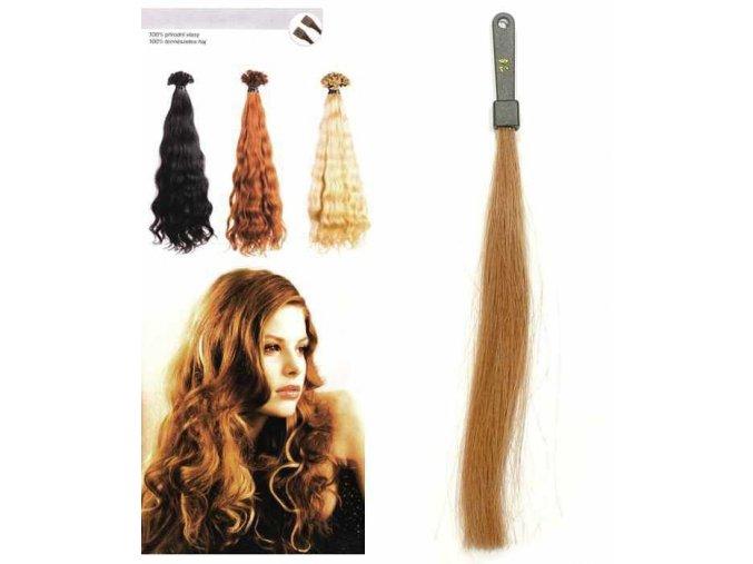 SO.CAP. Vlnité vlasy Přírodní odstín 8002M 50-55cm - tmavě zlatá blond 14