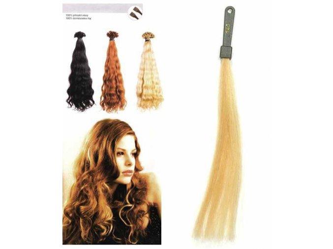 SO.CAP. Vlnité vlasy Přírodní ods. 8002M 50-55cm - zlatá extra světlá blond 140