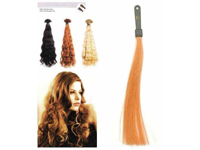 SO.CAP. Vlnité vlasy Přírodní ods. 8002M 50-55cm - světlá měděná blond 29