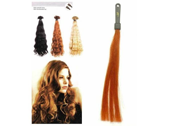 SO.CAP. Vlnité vlasy Přírodní odstín 8002M 50-55cm - měděná 130