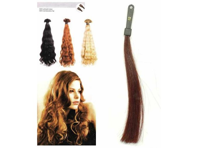 SO.CAP. Vlnité vlasy Přírodní odstín 8002M 50-55cm - int. červeno hnědá 32