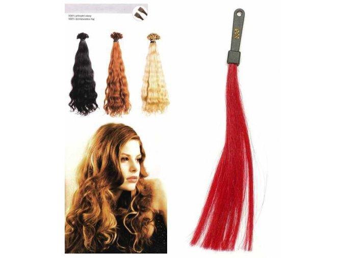 SO.CAP. Vlnité vlasy Přírodní odstín 8002M 50-55cm - rubínově červená 530