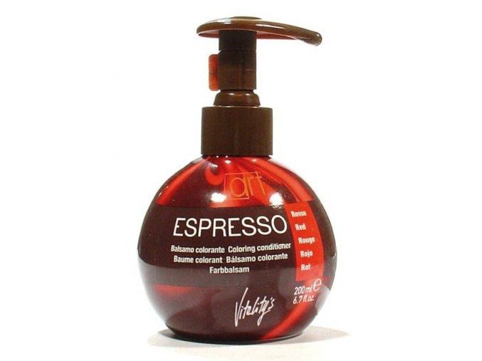 VITALITYS Espresso Barevný tónovací balzám na vlasy - Red - červený 200ml