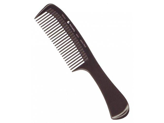 HAIRWAY Hřebeny Hřeben na vlasy Ionic s rukojetí 05153 - 220mm