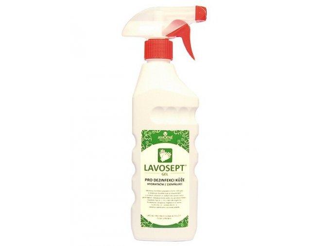 LAVOSEPT Gel Hydratační gel pro dezinfekci rukou a kůže 500ml - s rozprašovačem