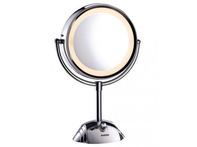 BABYLISS 8438 Dvoustranné kosmetické 8x zvětšovací zrcátko k líčení - podsvětlené