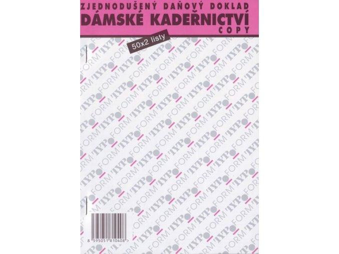 KADEŘNICTVÍ Dámské kadeřnictví - zjednodušený daňový doklad - blok 50x2listy