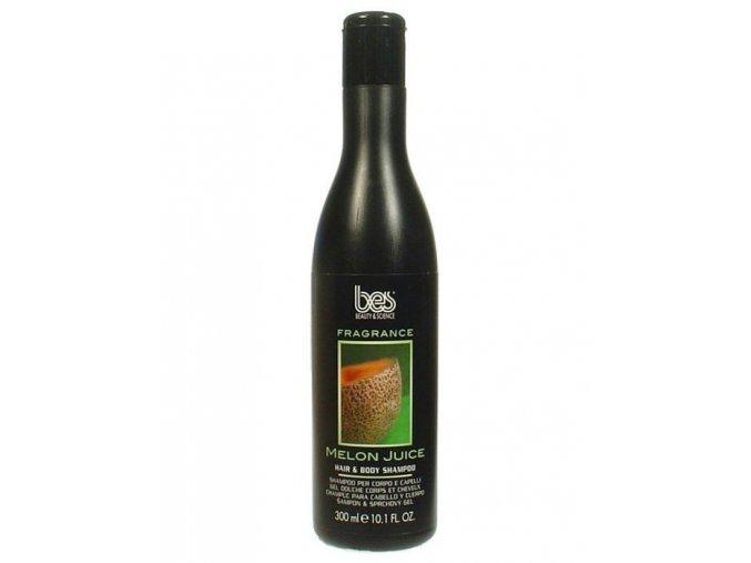 BES Fragrance Melon Juice vlasový a tělový šampon s vůní melounu 300ml