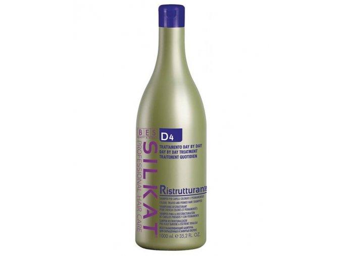 BES Silkat D4 Ristrutturante Shampoo regenerační šampon na barvené vlasy 1000ml