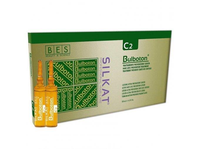 BES Silkat Bulboton Lozione C2 aktivní tonikum - prevence proti padání vlasů 12x10ml