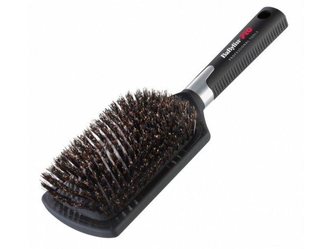 BABYLISS PRO BB1E Profi velký plochý kartáč na vlasy s kančími štětinami - šířka 82mm