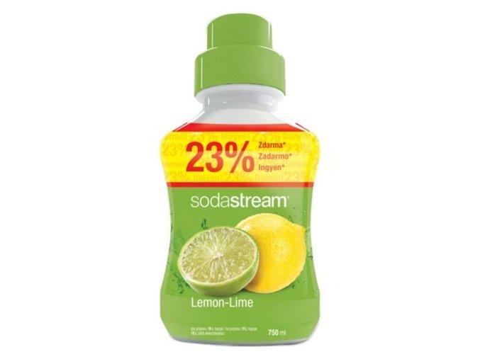 SODASTREAM Sirupy Sirup Lemon Lime VELKÝ 750ml - pro 18l perlivé limonády
