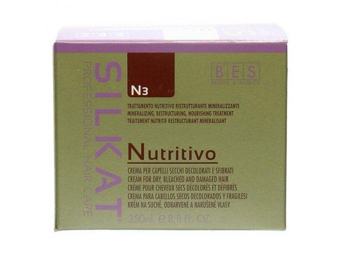 BES Silkat Nutritivo N3 Regenerační zábalová maska pro extrémně poškozené vlasy 250ml
