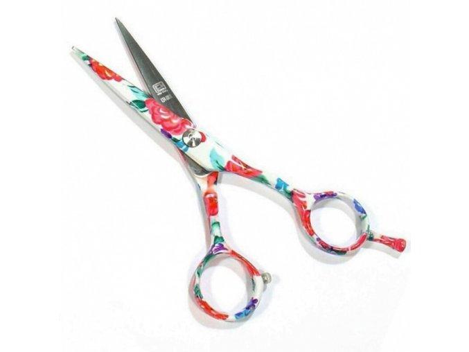PRO FEEL JAPAN Blu White FLowers profesionální kadeřnické nůžky na vlasy 5'