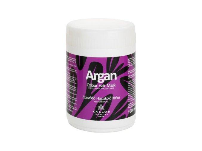 KALLOS Argan Colour Hair Mask 1000ml - maska s Arganem na barvené vlasy