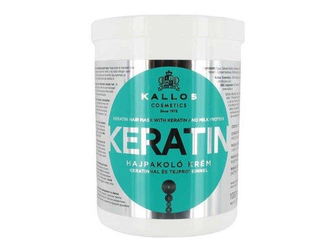 KALLOS KJMN Keratin Hair Mask 1000ml - hydratační keratinová maska na suché vlasy