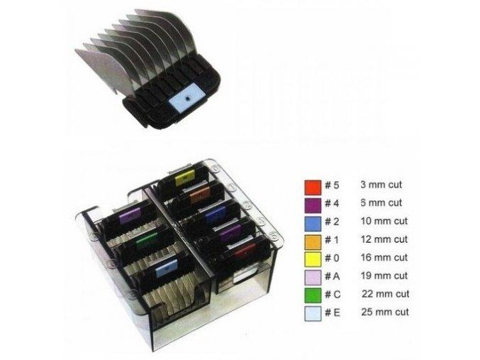 WAHL 1247-7440 Univerzální kovové přídavné hřebeny pro strojky Wahl, Moser a Oster