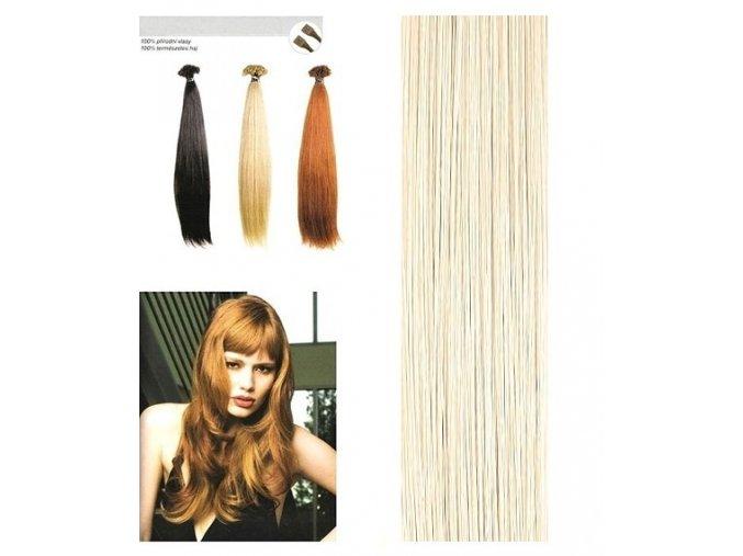 SO.CAP. Rovné vlasy Přírodní odstín 8000L 55-60cm - platinum blonde ash 1000