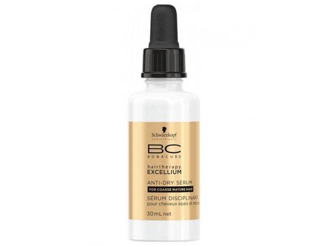 SCHWARZKOPF BC Excellium Anti-Dry Serum 30ml - osvěžující serum s Q10 na zralé vlasy