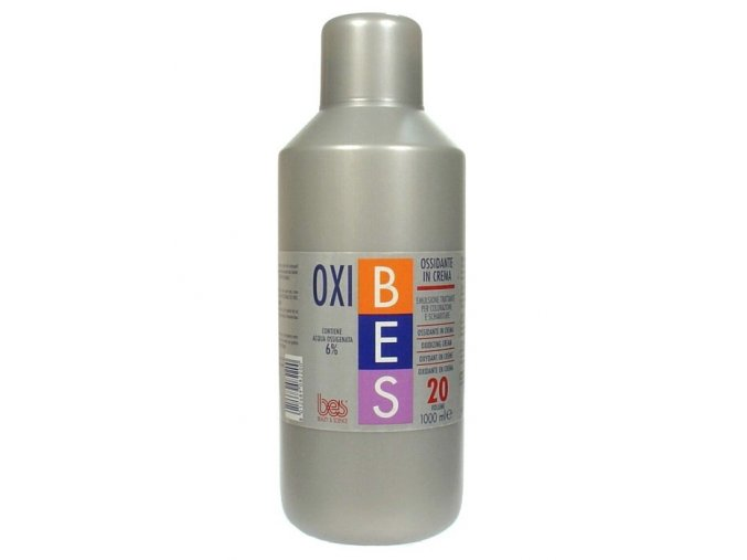 BES Oxibes 6% Ossidante In Crema - krémový peroxid pro barvy Bes HiFi - 6% (20vol)