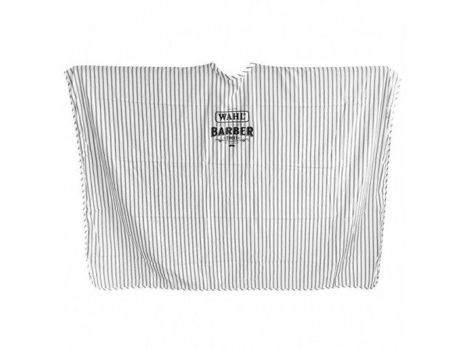 WAHL 0093-5590 Barber Tools - luxusní holičská pláštěnka XL - bílá s černými pruhy