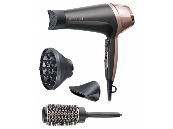 REMINGTON D5706 Curl and Straight Confidence 2200W - ionic fén na vlasy + kartáč zdarma