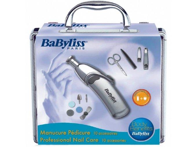 BABYLISS 8480E Manikúra Set - Profesionální 10dílný set pro manikúru a pedikúru
