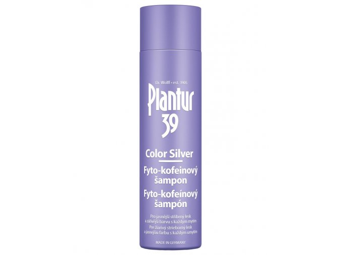 PLANTUR 39 Color Silver Fyto-kofeinový šampon pro stříbrný lesk blond vlasů 250ml